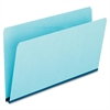"Pendaflex Straight Cut Prssbrd Top Tab Folders - Legal - 8 1/2"" x 14"" Sheet Size - 1"" Expansion - 25 pt. Folder Thickness - Pressboard - Blue - 25 / Box"