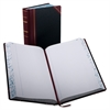 "Record-Ruled Account Books - 500 Sheet(s) - Thread Sewn - 14.12"" x 8.62"" Sheet Size - White Sheet(s) - Blue, Red Print Color - Black, Red Cover - 1 Each"