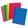 "Fashion Clear Front Report Cover - 9 3/8"" x 11 5/8"" Sheet Size - 30 Sheet Capacity - 3 Fastener(s) - Poly - Blue, Red, Yellow, Pink, Green - 25 / Box"