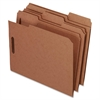 "Pendaflex Kraft Fastener Folders - Letter - 8 1/2"" x 11"" Sheet Size - 2 Fastener(s) - 2"" Fastener Capacity for Folder - 1/3 Tab Cut - 11 pt. Folder Thickness - Recycled - 50 / Box"