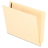 "Manila End Tab File Folder with Fastener - Letter - 8 1/2"" x 11"" Sheet Size - 3/4"" Expansion - 1 Fastener(s) - 2"" Fastener Capacity for Folder - 11 pt. Folder Thickness - Manila - 50 / Box"