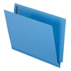 "End Tab Folder - Letter - 8 1/2"" x 11"" Sheet Size - 3/4"" Expansion - 2 Fastener(s) - 11 pt. Folder Thickness - Blue - 50 / Box"