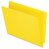 "End Tab File Folder - Letter - 8 1/2"" x 11"" Sheet Size - 3/4"" Expansion - 11 pt. Folder Thickness - Yellow - 100 / Box"