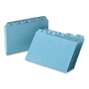 "Oxford A-Z Card Guide Set - Printed A to Z - 6"" Divider Width x 4"" Divider Length - Blue Pressboard Divider - 25 / Set"