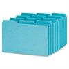 "Oxford Pressboard Index Card Guide - Blank - 8"" Divider Width x 5"" Divider Length - Blue Pressboard Divider Pressboard Tab - 100 / Box"