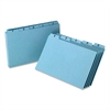 "Oxford A-Z Card Guide Set - Printed A to Z - 8"" Divider Width x 5"" Divider Length - Blue Pressboard Divider - 25 / Set"