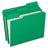 "File Folder - Letter - 8 1/2"" x 11"" Sheet Size - 1/3 Tab Cut - Assorted Position Tab Location - 11 pt. Folder Thickness - Green - 100 / Box"