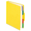 "Pendaflex Employee/Personnel Folders - Letter - 8 1/2"" x 11"" Sheet Size - 2"" Expansion - 1/3 Tab Cut - Center Tab Location - 5 Divider(s) - 20 pt. Folder Thickness - Yellow - 1 Each"