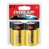 Eveready Gold Alkaline D Batteries - 19500 mAh - D - Alkaline - 1.5 V DC - 4 / Pack