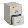 "Insulated Deep File Cabinet - 17.8"" x 31.5"" x 27.8"" - 2 x Drawer(s) for File - Letter - Fire Resistant - Parchment - Powder Coated - Steel"