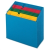 "QuickVue Project File - 11"" x 12"" Sheet Size - 12 Pocket(s) - Paper - Blue - 1 Each"