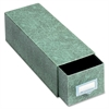 "Globe-Weis Index Card Storage Case - Internal Dimensions: 5"" Width x 3"" HeightExternal Dimensions: 14.5"" Depth - Heavy Duty - Fiberboard - Green - For Card - 1 Each"