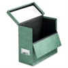 "591 Storage Case - External Dimensions: 12.1"" Width x 4.8"" Depth x 10.1""Height - Media Size Supported: Letter - Hinged Closure - Fiberboard - Green - For File - 1 Each"