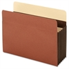 "Extra Wide Accordion File Pocket - Letter - 8 1/2"" x 11"" Sheet Size - 5 1/4"" Expansion - 24 pt. Folder Thickness - Tyvek - Brown - 10 / Box"