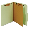"Pendaflex Bonded Fastener Classification Folders - Letter - 8 1/2"" x 11"" Sheet Size - 1"" Fastener Capacity for Folder - 1 Divider(s) - 25 pt. Folder Thickness - Pressboard - Green - 1 Each"