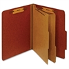 "Pendaflex Bonded Fastener Classification Folders - Letter - 8 1/2"" x 11"" Sheet Size - 1"" Fastener Capacity for Folder - 2 Divider(s) - 25 pt. Folder Thickness - Pressboard - Red - 1 Each"