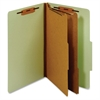 "Classification Folder With Divider - Legal - 8 1/2"" x 14"" Sheet Size - 1"" Fastener Capacity for Folder - 2 Divider(s) - 25 pt. Folder Thickness - Pressboard - Green - 1 Each"