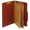 "Pendaflex Legal Classification Folders - Legal - 8 1/2"" x 14"" Sheet Size - 1"" Fastener Capacity for Folder - 2 Divider(s) - 25 pt. Folder Thickness - Pressboard - Red - Recycled - 1 Each"