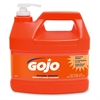 Gojo NATURAL* ORANGE Smooth Hand Cleaner - Citrus Scent - 1 gal (3.8 L) - Pump Bottle Dispenser - Soil Remover, Dirt Remover, Grease Remover - Hand - Orange - 1 Each
