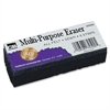 "CLI Multi-Purpose Eraser - 2"" Width x 5"" Length - Washable - Black - Felt - 1Each"