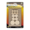 "Master Caster Scratch Guard Felt Pads - 12 Pad of 0.75"" Diameter, 8 Pad of 1"" Diameter, 4 Pad of 1.50"" Diameter - Circle - Self-adhesive - Beige - Polyester - 25/Pack"