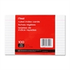 "Ruled Index Card - Printed - Ruled - 90 lb Basis Weight - 4"" x 6"" - White Paper - 100 / Pack"