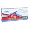 "Mead Plain White Self-Seal Business Envelopes - Business - #10 - 4.13"" Width x 9.50"" Length - Self-sealing - 50 / Box - White"