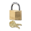 Keyed Padlock - Keyed Different - Brass Body, Steel Shackle - Brass