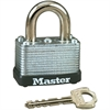 Master Lock Warded Padlock - Keyed Different - Steel Shackle, Laminated Steel - Silver
