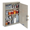"""MMF Medical Security Cabinet - 14"""" x 3.1"""" x 17.1"""" - 4 x Shelf(ves) - Security Lock - Sand - Steel - Recycled"""