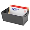 """MMF Steel Posting Tubs - External Dimensions: 15.1"""" Width x 11.4"""" Depth x 7""""Height - Media Size Supported: Legal - Heavy Duty - Steel - Black - For File - Recycled - 1 Each"""