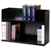 "MMF 2-Tier Book Rack - 2 Tier(s) - 20"" Height x 29.1"" Width x 10.4"" Depth - Desktop - Recycled - Black - Steel - 1Each"