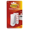 Command Spring Clip with Adhesive Strips - 1 Pack - White