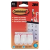 Command Micro Hooks w/ Strips - 8 oz (226.8 g) Capacity - Plastic - White - 3 / Pack