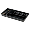 "OIC Economy Drawer Tray - 9 Compartment(s) - 9"" Height x 16"" Width x 1.5"" Depth - Drawer - Black - 1Each"