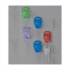OIC Standard Cubicle Hooks - Standard - 5 / Pack - Assorted