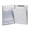"OIC Aluminum Storage Clipboard - Storage for 30 - Side Opening - 8.50"" x 12"" - Aluminum"