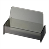 "Broad Base Business Card Holder - 1.9"" x 3.9"" x 2.4"" - Plastic - 1 Each - Smoke"