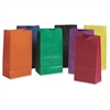 "Rainbow Bag - 6"" Width x 11"" Length - 6"" Gusset - Assorted - Kraft Paper - 28/Pack - Multipurpose"