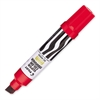 Pilot Jumbo Chisel Felt Tip Permanent Markers - Chisel Point Style - Refillable - Red - Red, White Barrel - 1 Each