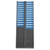 "40 Pocket Badge Rack - 40 Pocket(s) - 22.5"" Height x 8.3"" Width x 0.5"" Depth - Wall Mountable - Gray - Plastic - 1Each"