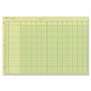 "Rediform National Side Punched Analysis Pads - 50 Sheet(s) - Gummed - 11"" x 16.37"" Sheet Size - 3 x Holes - Green Sheet(s) - Green, Brown Print Color - 50 / Pad"