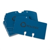 "Rolodex Rotary Indexed File Guide - Printed A to Z - 24 Tab(s)/Set - 4"" Divider Width x 2.25"" Divider Length - White - Blue - 25 / Set"