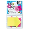 "Redi-Tag Super-Size Arrow Flag - 30 x Neon Yellow, 30 x Neon Pink - 2.25"" x 2.56"" - Arrow - Assorted - Removable, Self-adhesive, See-through - 60 / Pack"