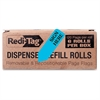 "Redi-Tag Removable Sign Here Flag Refills - 50 x Blue - 1.88"" x 0.56"" - Arrow - ""SIGN HERE"" - Blue - Removable, Self-adhesive - 300 / Box"