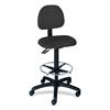 """Safco Trenton Extended Height Chair - Olefin Black, Polyester Seat - Steel Black Frame - 5-star Base - Black - 19.50"""" Seat Width x 16"""" Seat Depth - 26"""" Width x 24"""" Depth x 33"""" Height"""