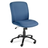 "Big & Tall Executive High-Back Chair - Foam Blue, Polyester Seat - Black Frame - 5-star Base - Blue - 22.25"" Seat Width x 20.75"" Seat Depth - 27"" Width x 30.3"" Depth x 44.8"" Height"