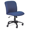 "Big & Tall Executive Mid-Back Chair - Foam Blue, Polyester Seat - Black Frame - 5-star Base - Blue - 22.25"" Seat Width x 20.75"" Seat Depth - 27"" Width x 30.3"" Depth x 40.5"" Height"