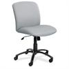 "Big & Tall Executive Mid-Back Chair - Foam Gray, Polyester Seat - Black Frame - 5-star Base - 22.25"" Seat Width x 20.75"" Seat Depth"