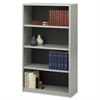 "Safco ValueMate Bookcase - 31.8"" x 13.5"" x 54"" - 4 x Shelf(ves) - Gray - Steel, Fiberboard, Plastic - Assembly Required"